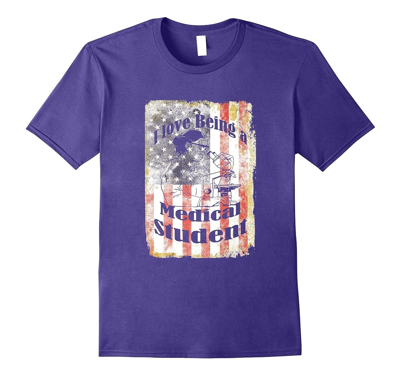 American Flag USA Patriotic Medical Student 4th July T-Shirt