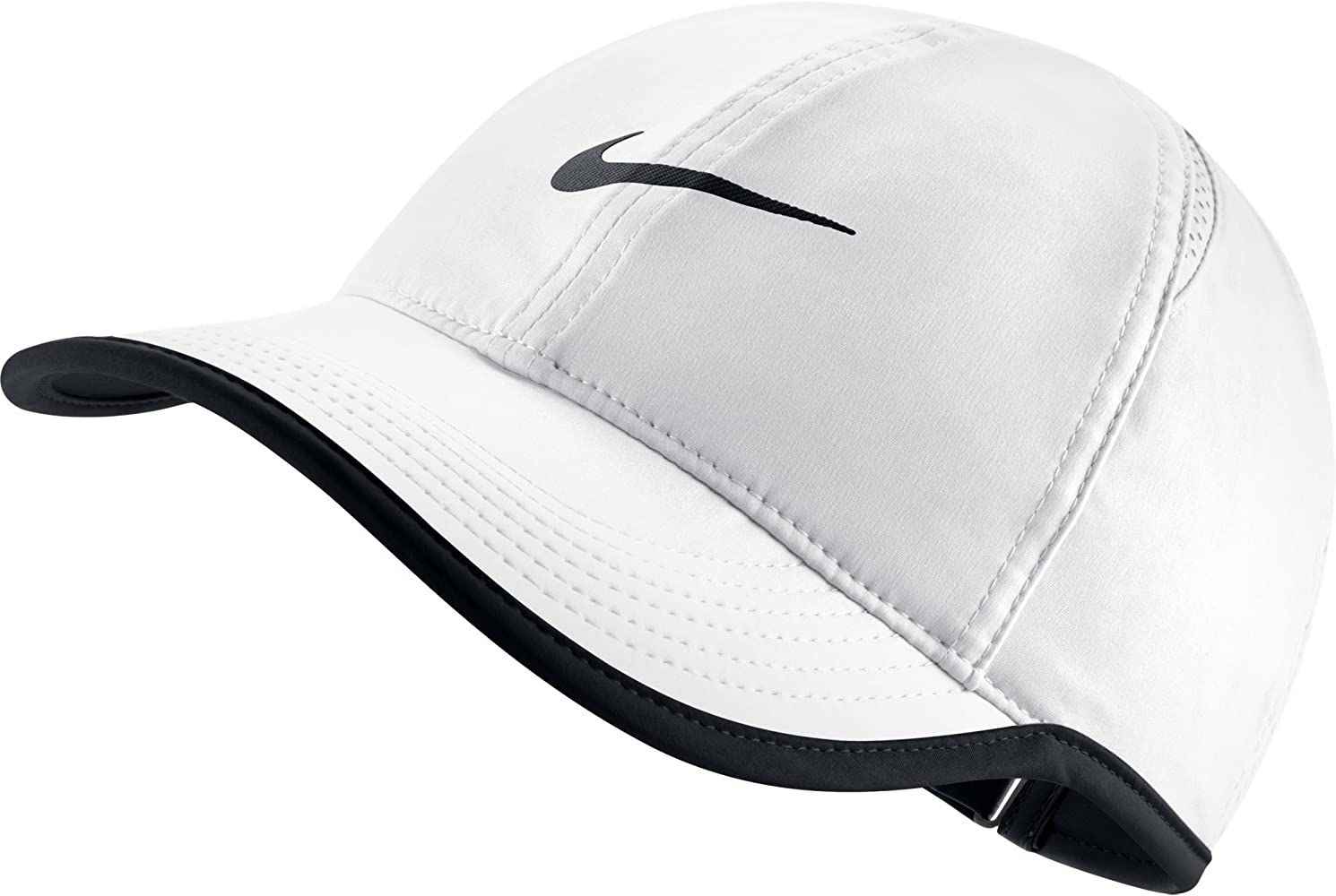 Nike W NK Arobill FTHRLT Cap Gorra, Mujer, Blanco (White/Black ...