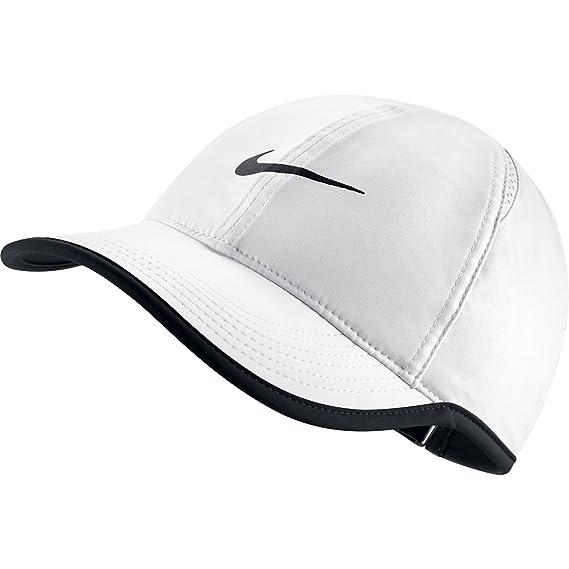 Nike W NK Arobill FTHRLT Cap Gorra, Mujer, Blanco White/Black, Talla Única: Amazon.es: Deportes y aire libre