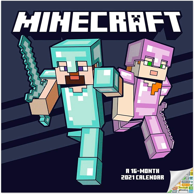 Minecraft Calendar 10 Bundle - Deluxe 10 Minecraft Mini Calendar with  Over 10 Calendar Stickers (Minecraft Gifts, Office Supplies)