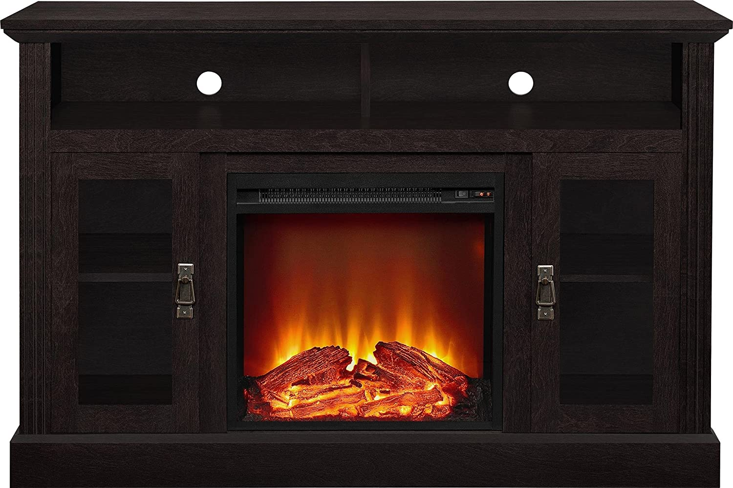 amazon com ameriwood home chicago electric fireplace tv console