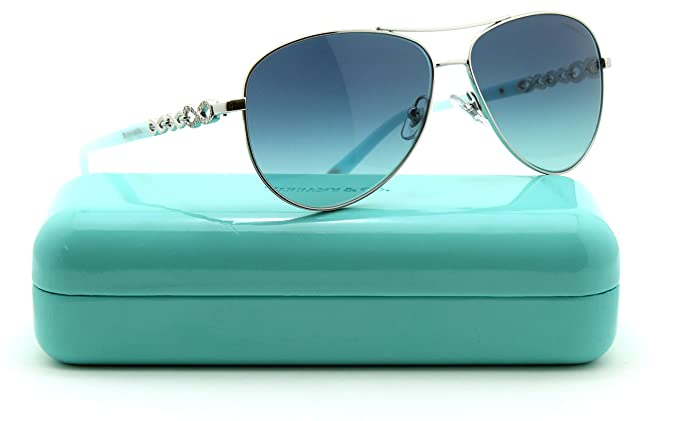4b9ea6439ed0 Image Unavailable. Image not available for. Colour: Tiffany & Co. TF 3049 B  Women Aviator Gradient Sunglasses 60019S