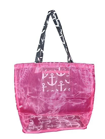 34201e2a0f64 Fashion Mesh Bag Tote - Great for the Beach or Stadium Events