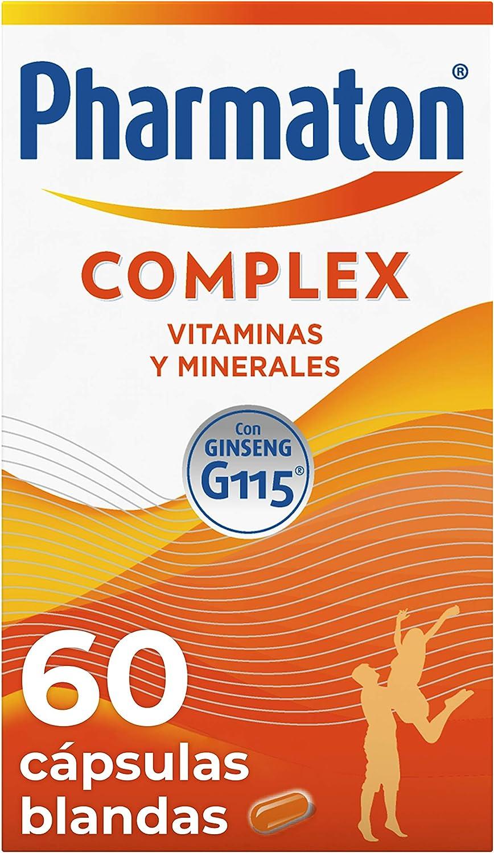 Pharmaton - Multivitamínico con ginseng, Complex 60 cápsulas, Ayuda a recuperar la energía: Amazon.es: Salud y cuidado personal