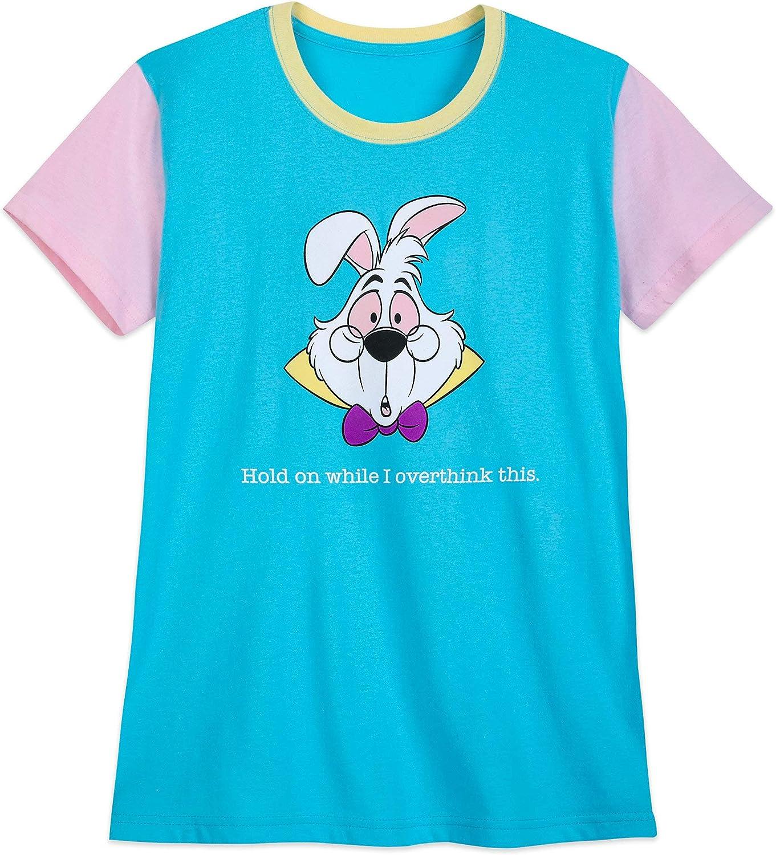 Disney Rabbit ''Overthink This'' T-Shirt for Women – Alice in Wonderland