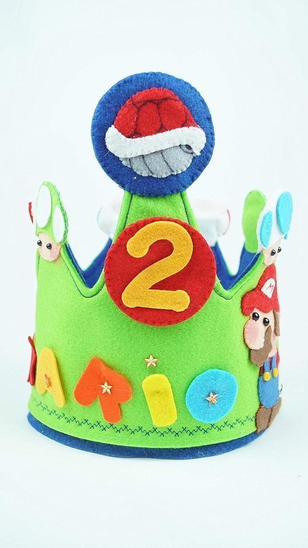 Corona Cumpleaños Mario Bross: Amazon.es: Handmade