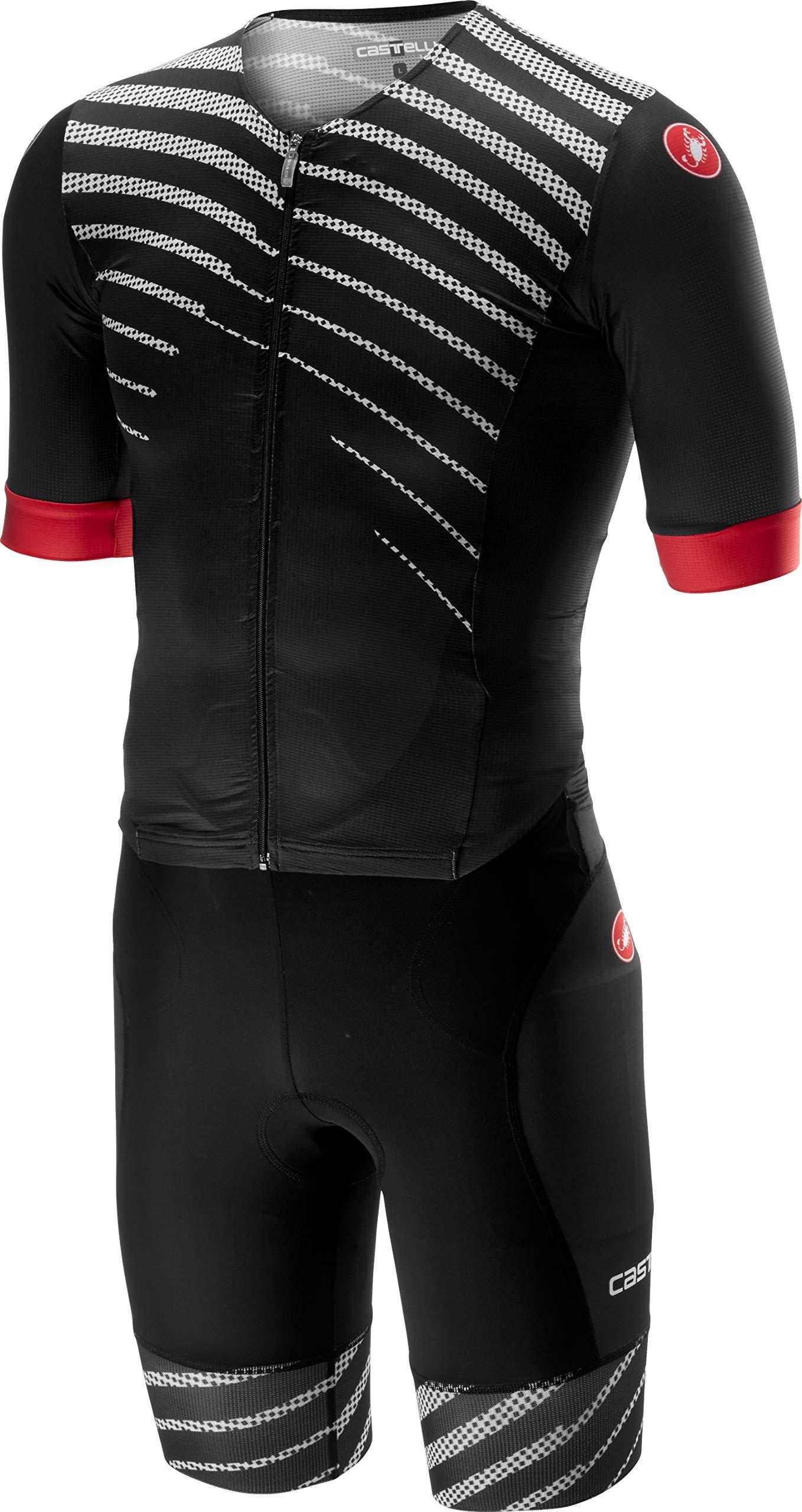 Castelli Free Sanremo Short-Sleeve Suit - Men's Black/Black, M