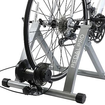 PedalPro Rodillo magnético de entrenamiento turbo para bicicleta rueda de ajuste de velocidad en el manillar