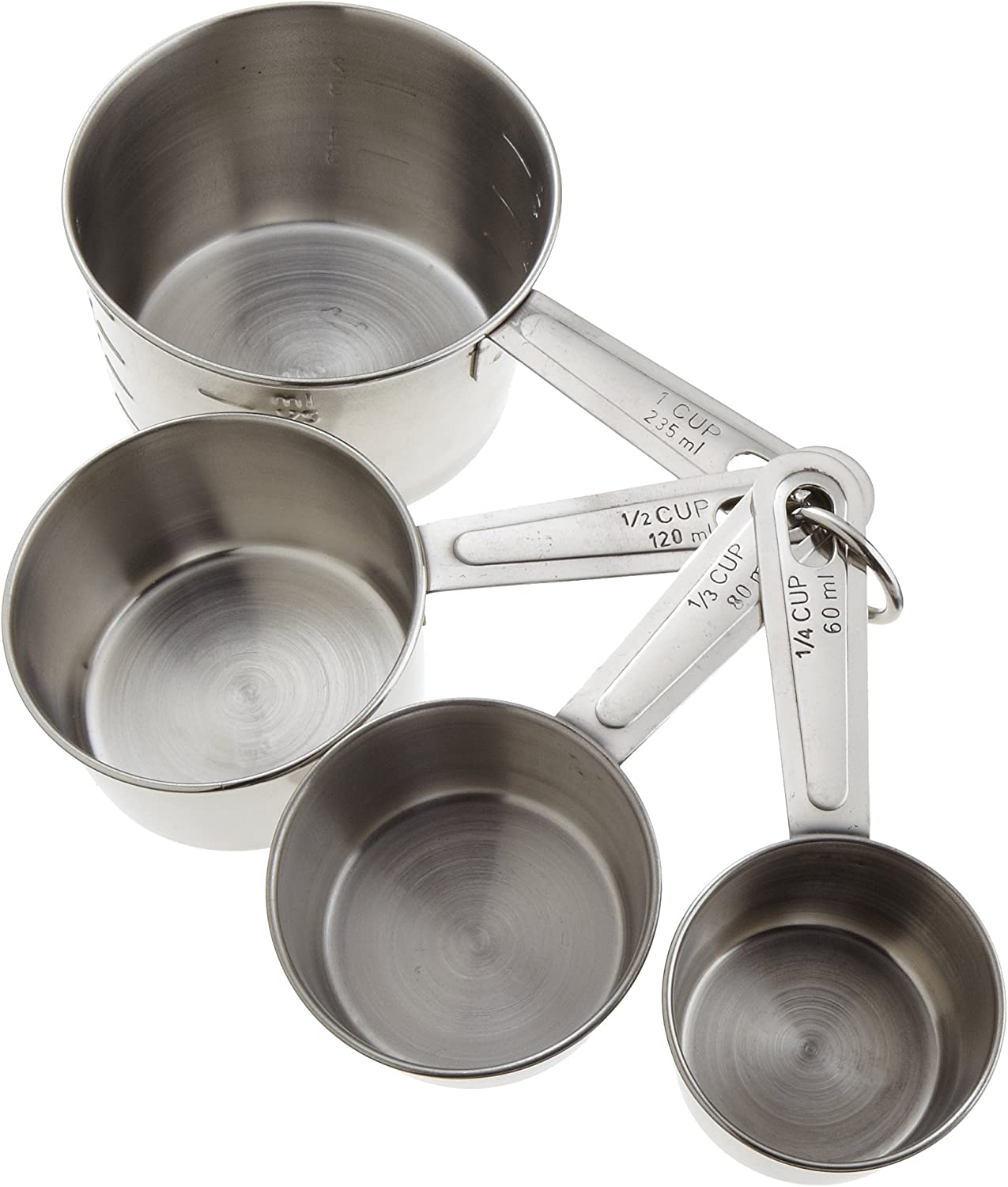 Good Cook Classic Stainless Steel Measuring Cups, Set of 4