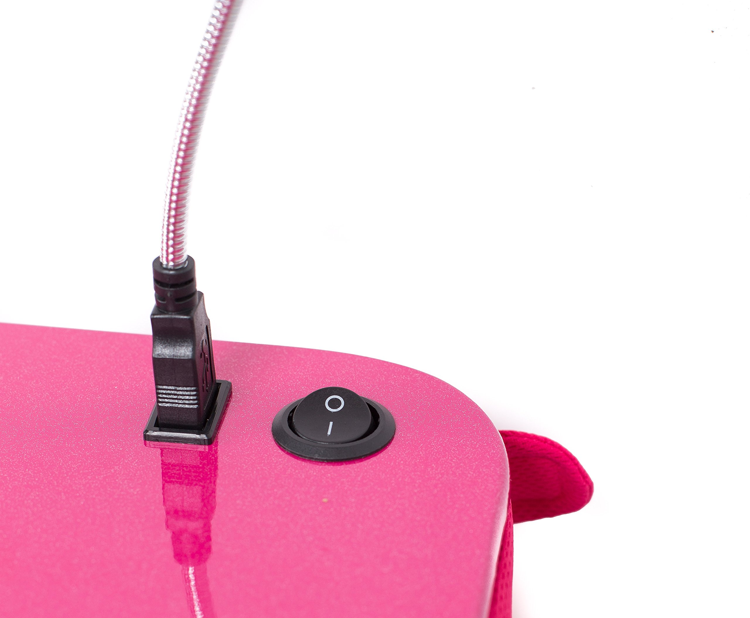 Sofia + Sam Lap Desk with USB Light (Pink)   Memory Foam Cushion   Supports Laptops Up To 17 Inches by Sofia + Sam (Image #4)