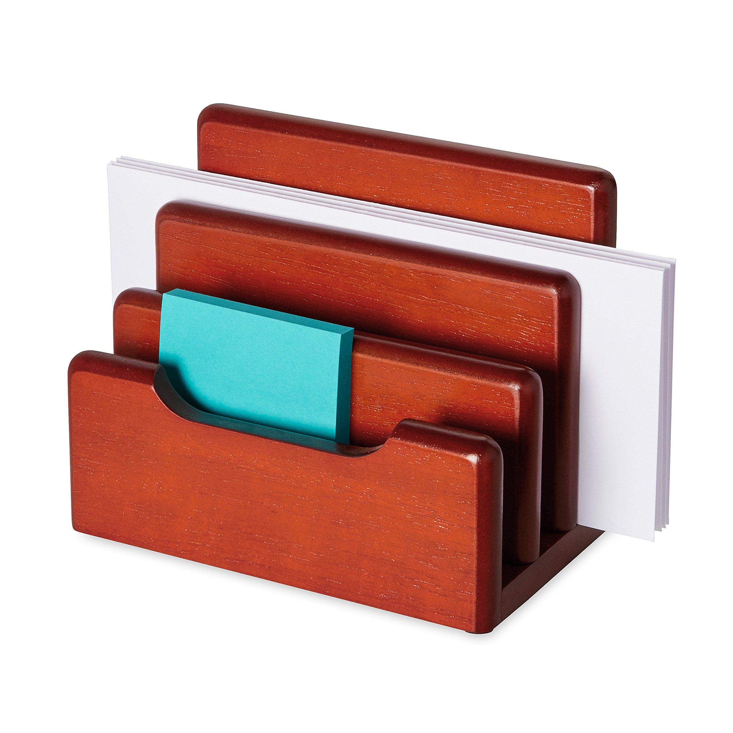 Rolodex 23420 Wood Tones Desktop Sorter, Mahogany
