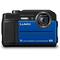 Panasonic DMC-FT7EB-A Tough compact Camera (31m waterproof) with EVF, 20 MP high sensitivity MOS sensor and 4K Video/4K Photo/Post Focus - Blue