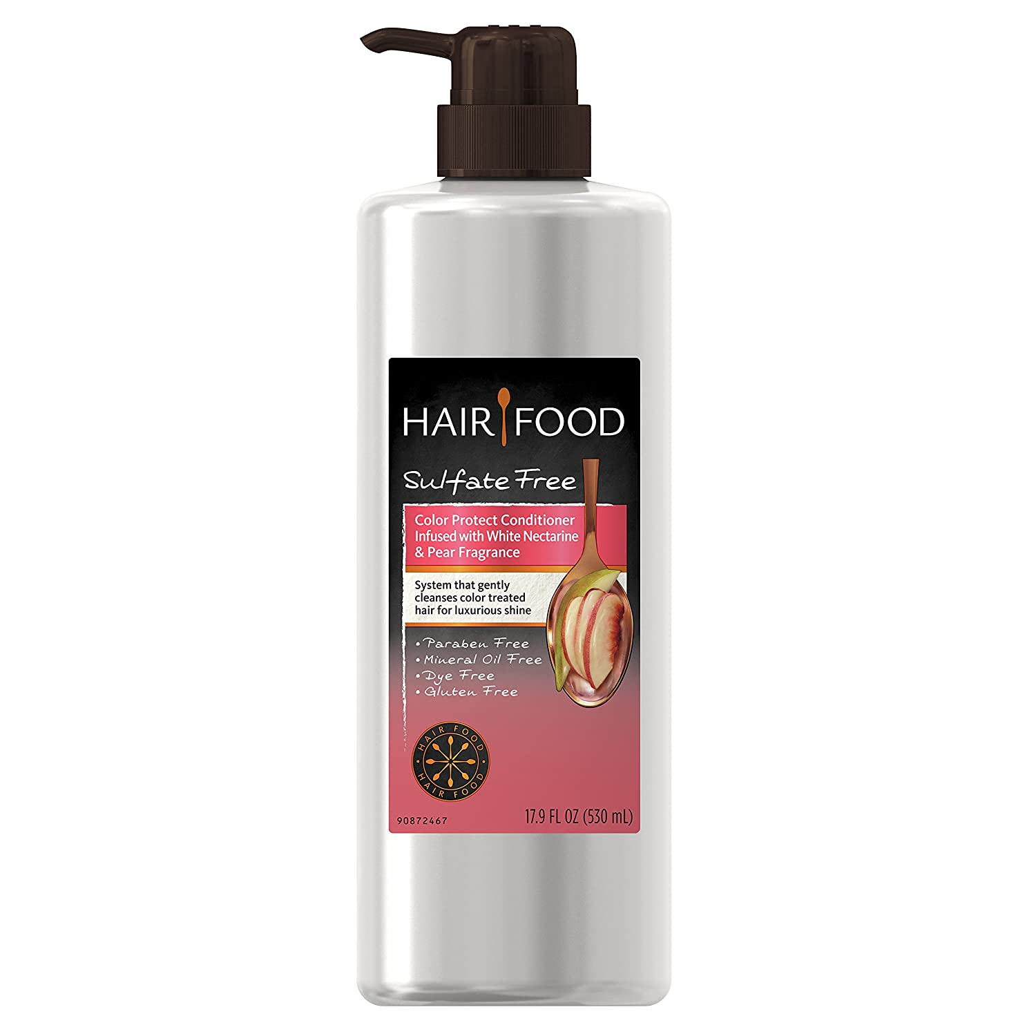 Hair Food Sulfate Free Color Protect Conditioner with White Nectarine & Pear Fragrance, 17.9 Fluid Ounce (Pack of 9)