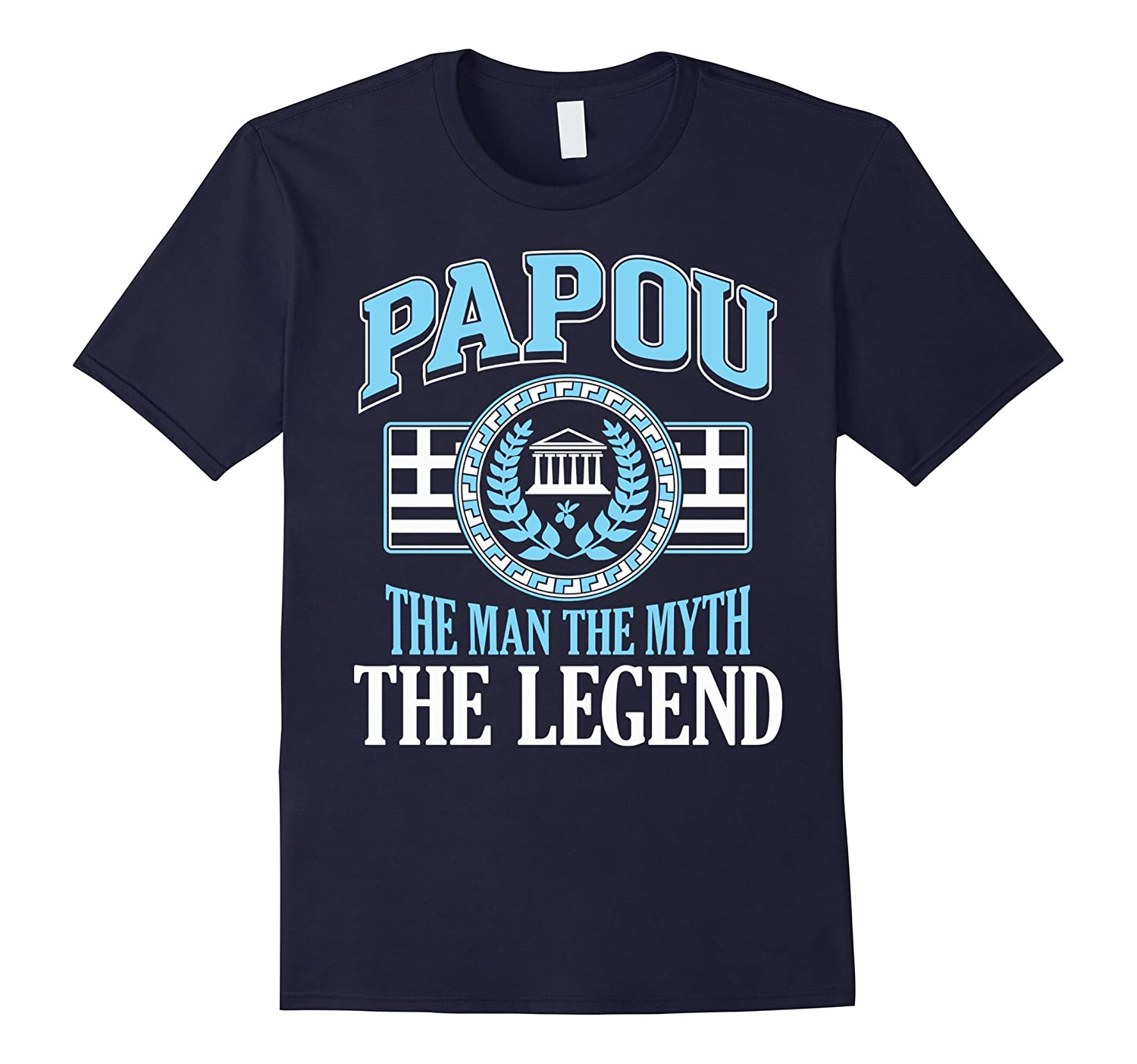 Grandpa T Shirt Papou The Man The Myth The Legend Shirt-TD