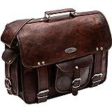"""Handmade_world Leather Messenger Bags for Men Women 16"""" Mens Briefcase Laptop Bag Best Computer Shoulder Satchel School Distressed Bag"""