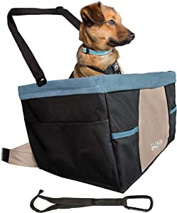 Kurgo Car Pet Booster Seat for Dogs or Cats | Front & Rear Dog Car Seat | Carrier Carseat for Pets | | Dog Seatbelt Tether | Helps with Canine Car Sickness