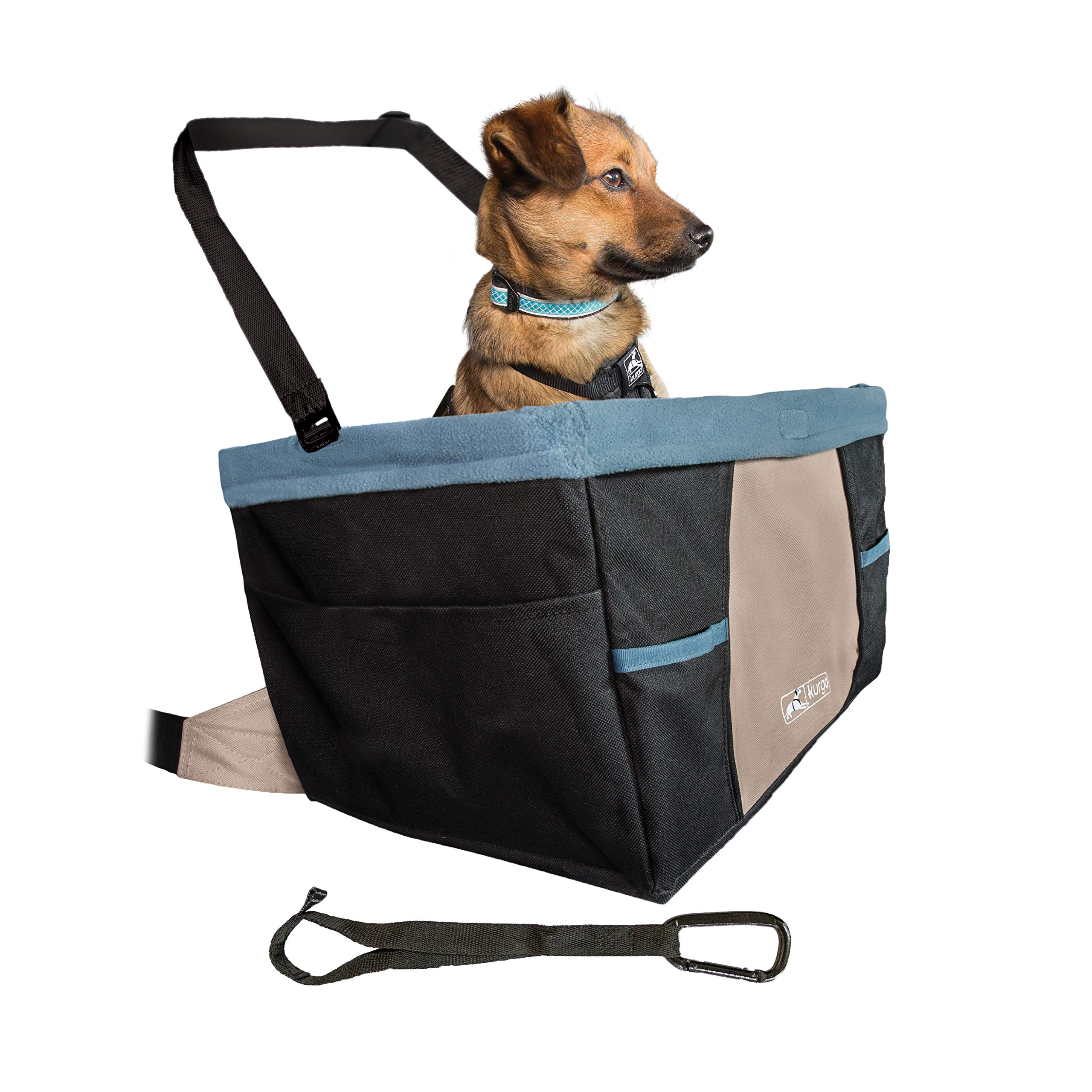 Kurgo Rover Booster Dog Car Seat with Seat Belt Tether, Black/Blue by Kurgo (Image #1)