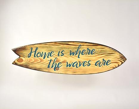 Desconocido Cuadro Tabla Surf Decorativa Frase Azul