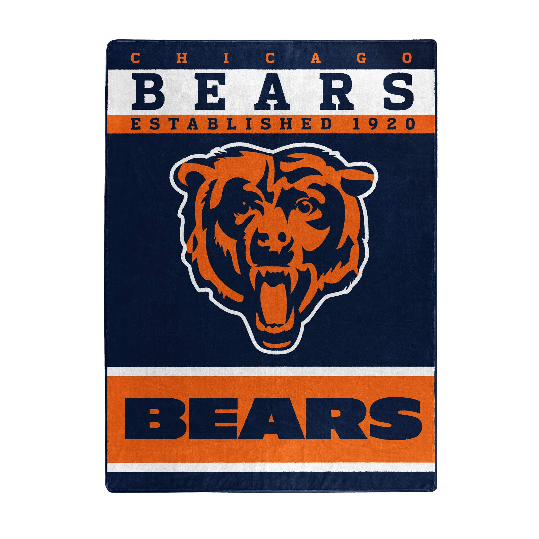 The Northwest Company Officially Licensed NFL Chicago Bears 12th Man Plush Raschel Throw Blanket, 60'' x 80'', Multi Color by The Northwest Company