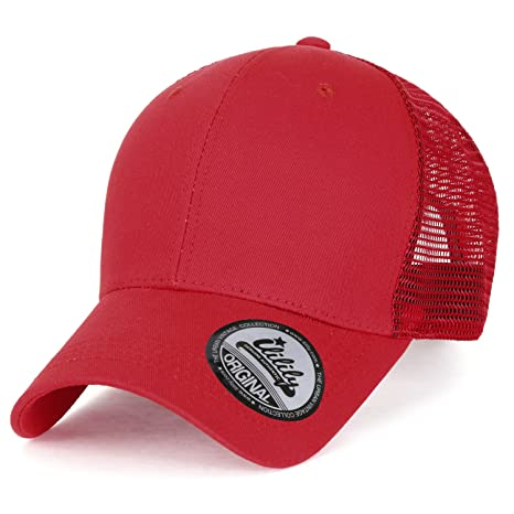 8a7551ef825 ililily Extra Big Size Adjustable Mesh Back Curved Baseball Cap Trucker Hat  at Amazon Men s Clothing store