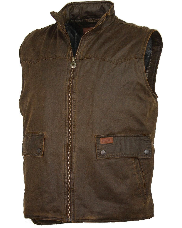 Outback Trading Company Men's Landsman Vest, Brown, L