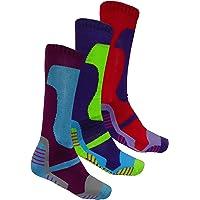 3 pares de calcetines largos térmicos acolchados