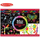 """Melissa & Doug Scratch Art Deluxe Combo Set (Arts & Crafts, Hides Colors & Patterns, Easy to Use, Supplies for 16 Projects, 13.75"""" H x 9.75"""" W x 1.5"""" L)"""