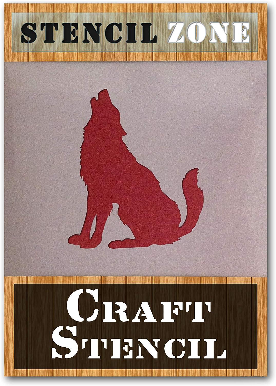 A5 XSmall Wolf Moon Howling AirRush Malerei Wand-Deko Stencil