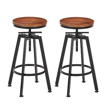 0066cdd47b812 Amazon.com  VILAVITA 2-Set Bar Stools