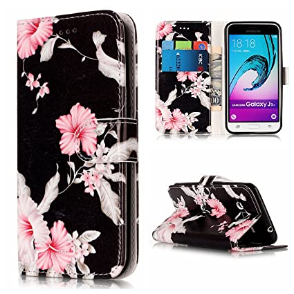 Galaxy J3 Case,Galaxy Sky,Galaxy Sol,DAMONDY Marble Stand Wallet Purse  Credit Card ID Holders Design Flip Cover TPU Soft Bumper PU Leather  Magnetic