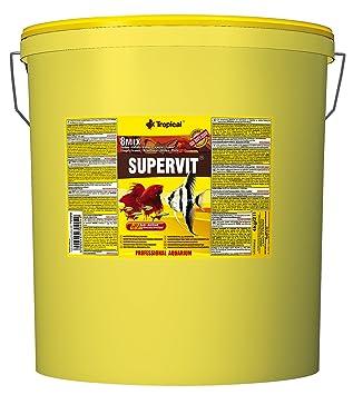 Tropical Comida en escamas Supervit Premium básico, peces ornamentales, 1 paquete (1 x 21 L): Amazon.es: Productos para mascotas