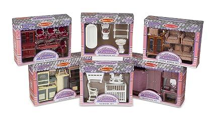 amazon com melissa doug classic victorian wooden and upholstered rh amazon com