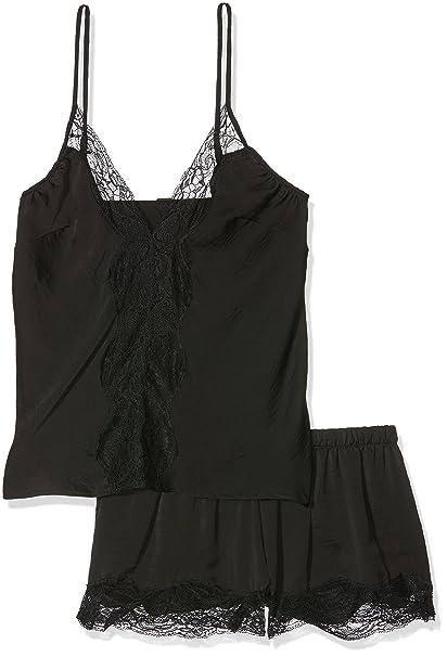 Ann Summers Viola Cami Set, Conjuntos de Pijama para Mujer, Negro (Black)