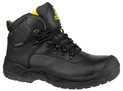 Amblers Safety Mens FS220 W/P Leather Waterproof Safety Boots Black wVIWWHNyo
