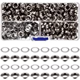 500 Set Silver 1/ 4 Inch Inside Diameter Grommets Eyelets for Clothes, Leather, Canvas with Clear Box