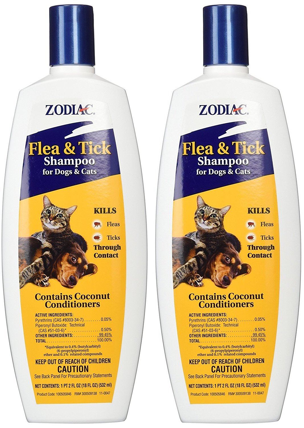 Zodiac Flea and Tick Shampoo for Dogs and Cats (2 Pack - 18 oz.) by Zodiac