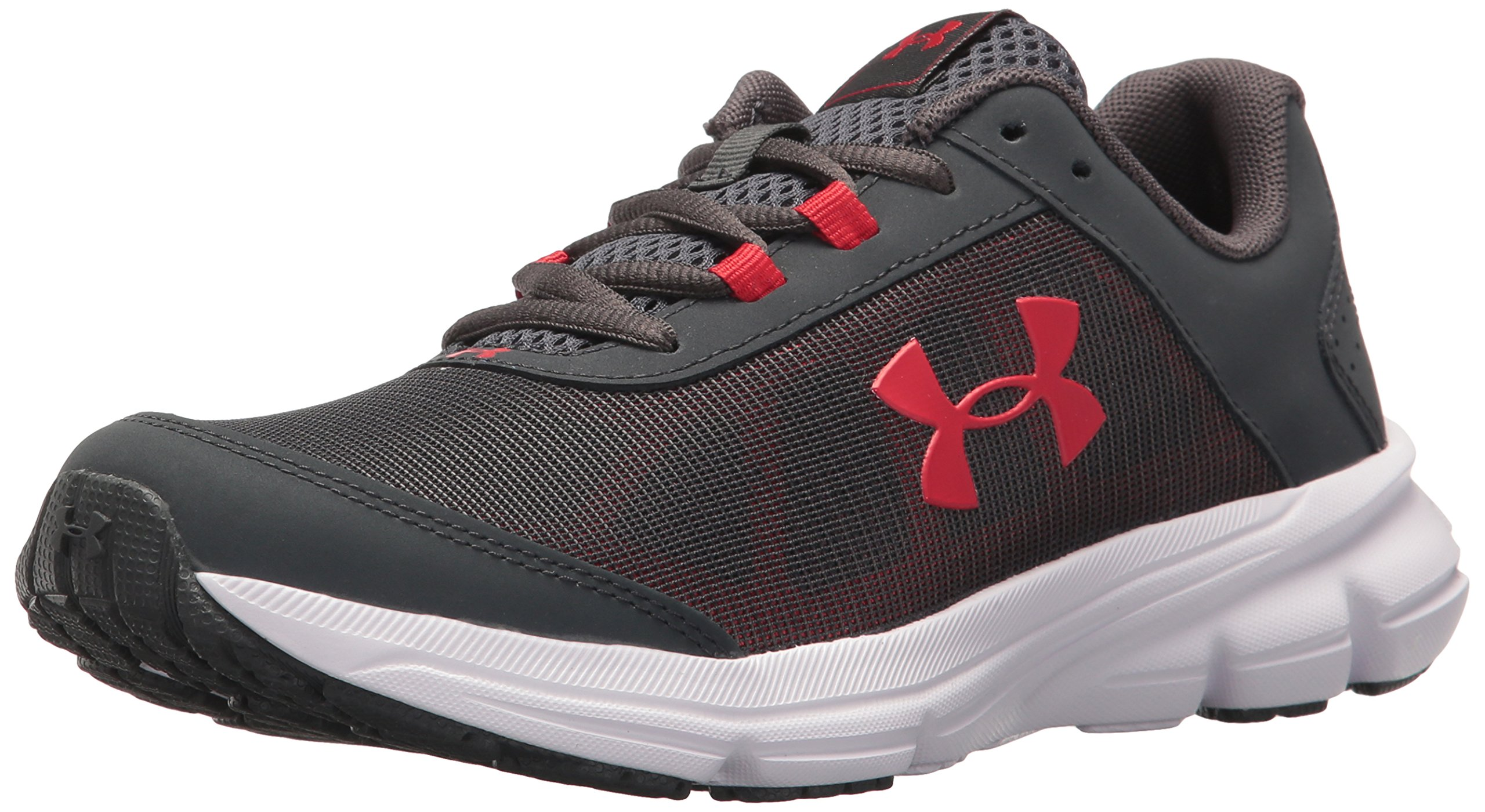 Under Armour Kids' Grade School Rave 2 Sneaker,Stealth Gray (100)/White,6.5 M US by Under Armour