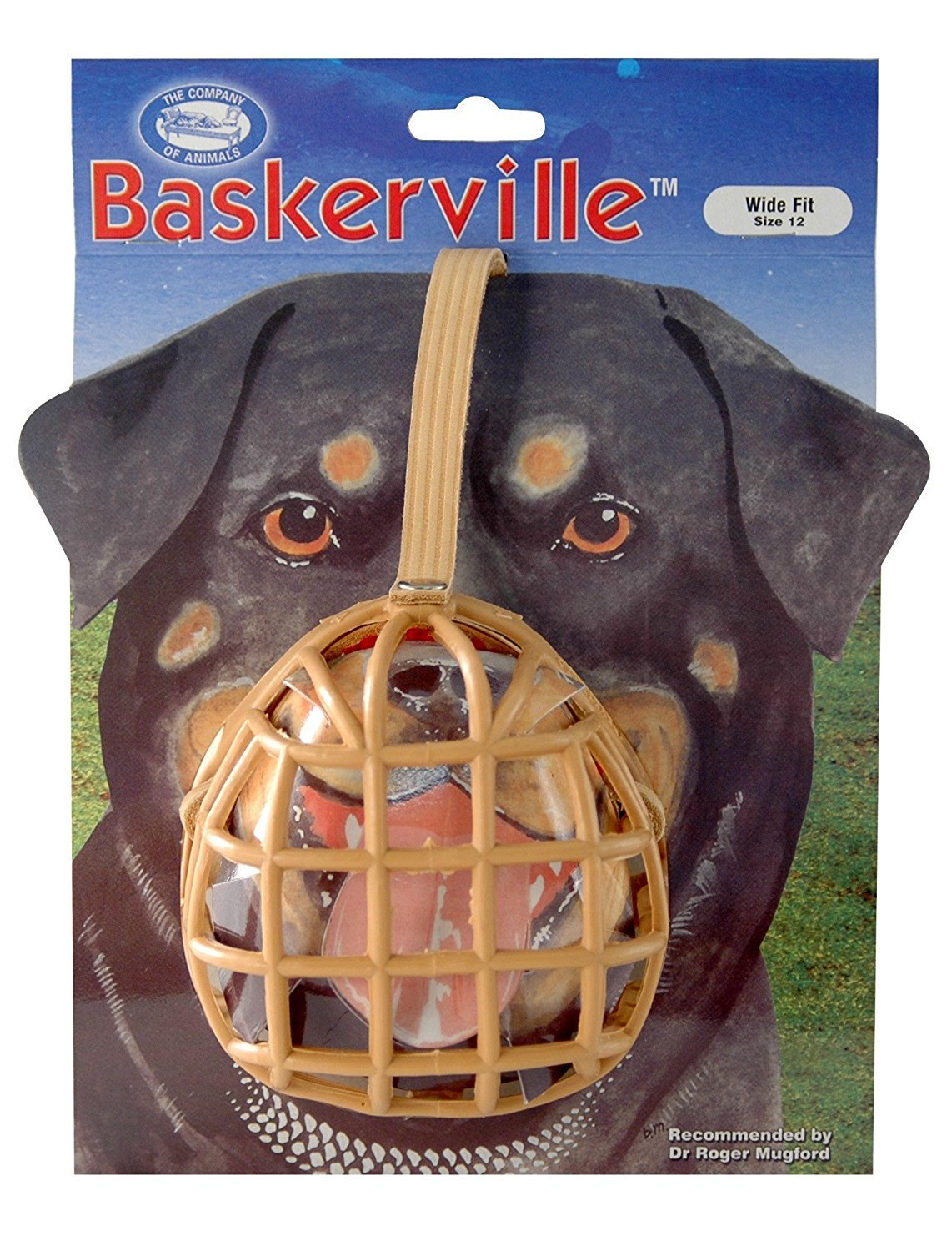 Company of Animals Baskerville Dog Muzzle, Size 15, Rottweiler