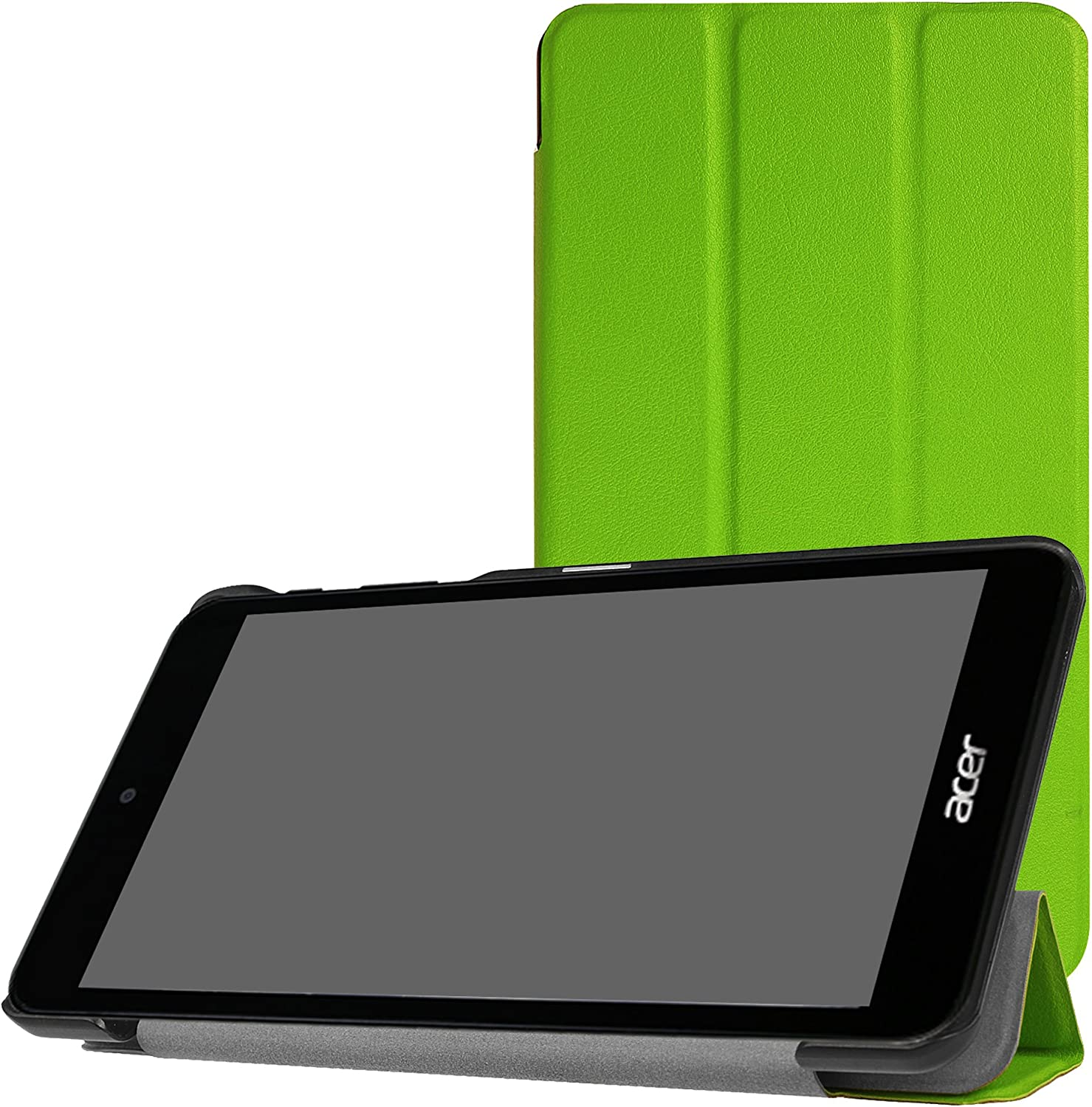 Acer Iconia One 7 B1-790 Slim Shell Case,Mama Mouth Ultra Lightweight PU Leather Standing Cover for Acer Iconia One 7 B1-790 7.0-Inch Tablet [with auto Wake/Sleep Feature],Green