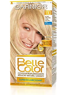 garnier belle color coloration permanente blond 110 blond trs trs clair naturel lot - Meilleure Coloration Blonde