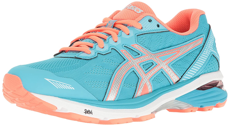 ASICS Women's Gt-1000 5 Running Shoe B01GU9M8RM 5 D US|Aquarium/Silver/Flash Coral