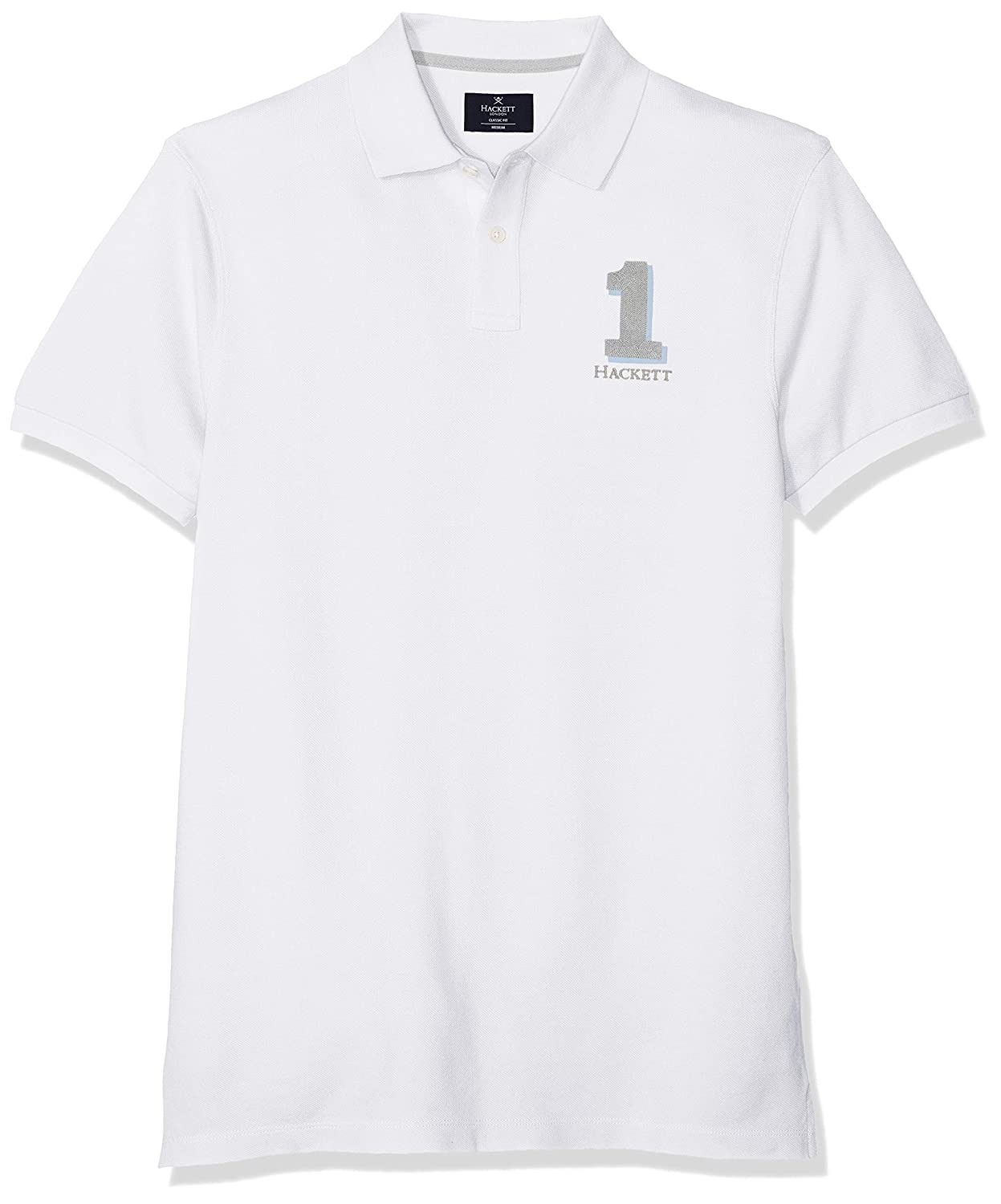 Blanc (Optic blanc 802) S Hackett London nouveau Classic Polo Homme