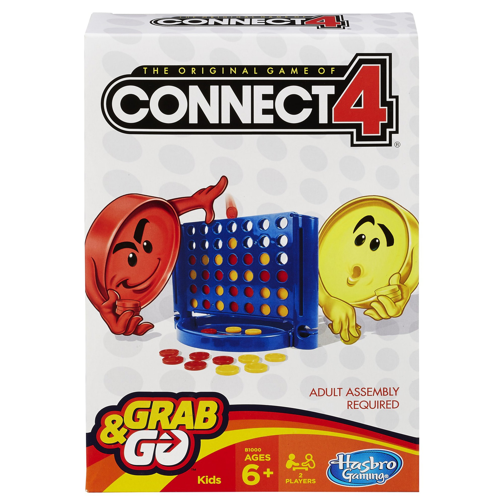 Hasbro Connect 4 Grab and Go Game (Travel Size)
