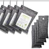 Oududianzi Air Purifying Bags(8 Pack - 4x200g+4x50g) with 4 Hooks,Shoe Deodorizer,Bamboo Charcoal Bag,Activated Charcoal…