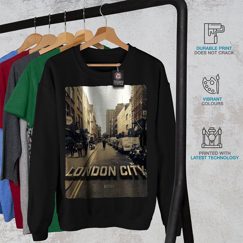 wellcoda London City Photo Mens Sweatshirt England Casual Jumper