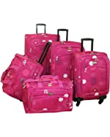 American Flyer Luggage Fireworks 5 Piece Spinner Set