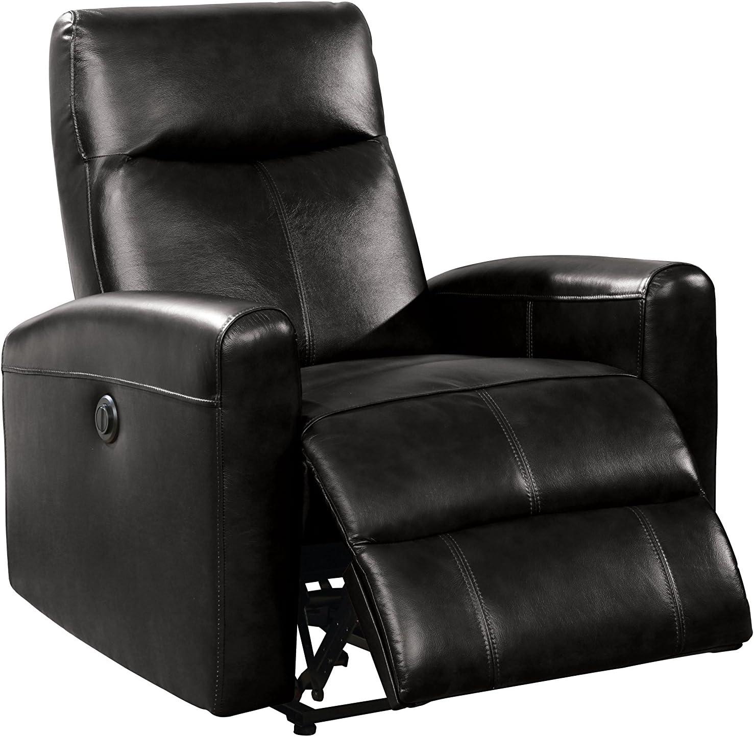 ACME Furniture 59686 Blane Power Recliner, Black Leather