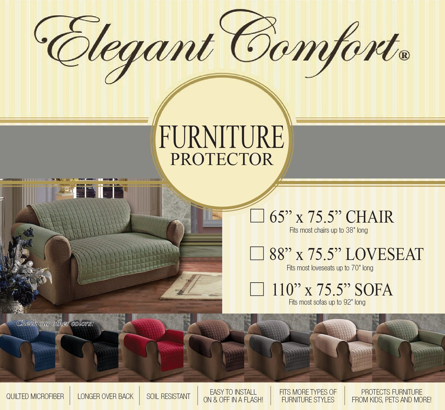 Amazon Elegant fort QUILTED FURNITURE PROTECTOR Special
