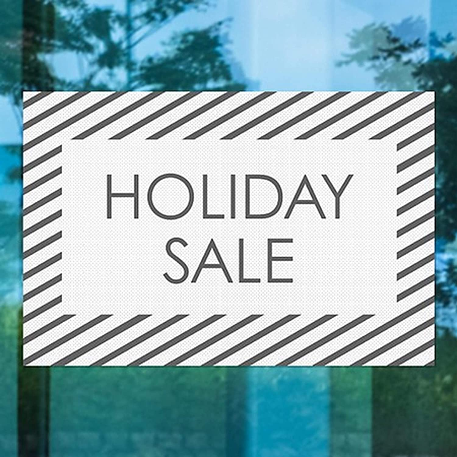 30 x 20 Pack of 5 Stripes White Perforated Window Decal CGSignLab 2455127/_5gfxp/_30x20/_None Holiday Sale Perforation