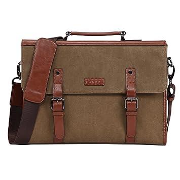 3cda014e1 Amazon.com: Banuce 13.3 inch Laptop Messenger Bag for Men Vintage Canvas  Briefcase Tote Tablet Satchel Shoulder Bag: Banuce